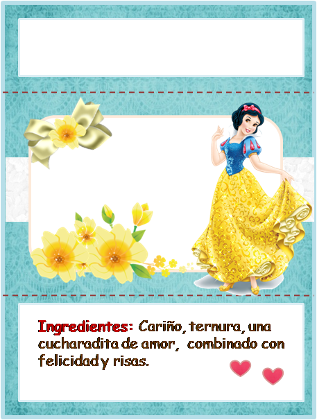 Snow White: Free Printable Chocolate Wrappers.