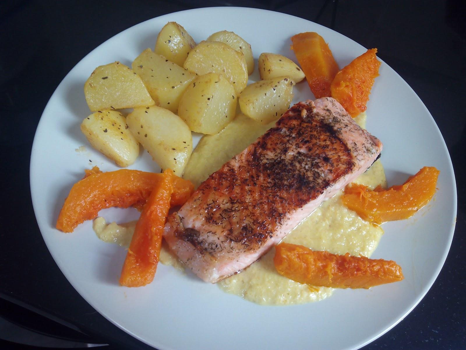 Cocina con rachel salm n con salsa de curry y patatas - Racholas cocina ...