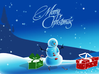 Merry Christmas lettering and fog hd(hq) wallpaper snowman background
