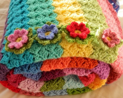 Slanty shell blanket - Free Pattern