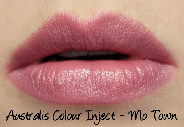 Australis Colour Inject Mineral Lipsticks - Mo Town Swatches & Review