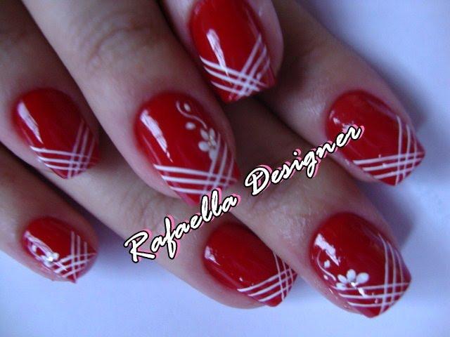 decoracao em unha branca : decoracao em unha branca:Belas Unhas: Esmaltes vermelhos que não manchão a decoração branca
