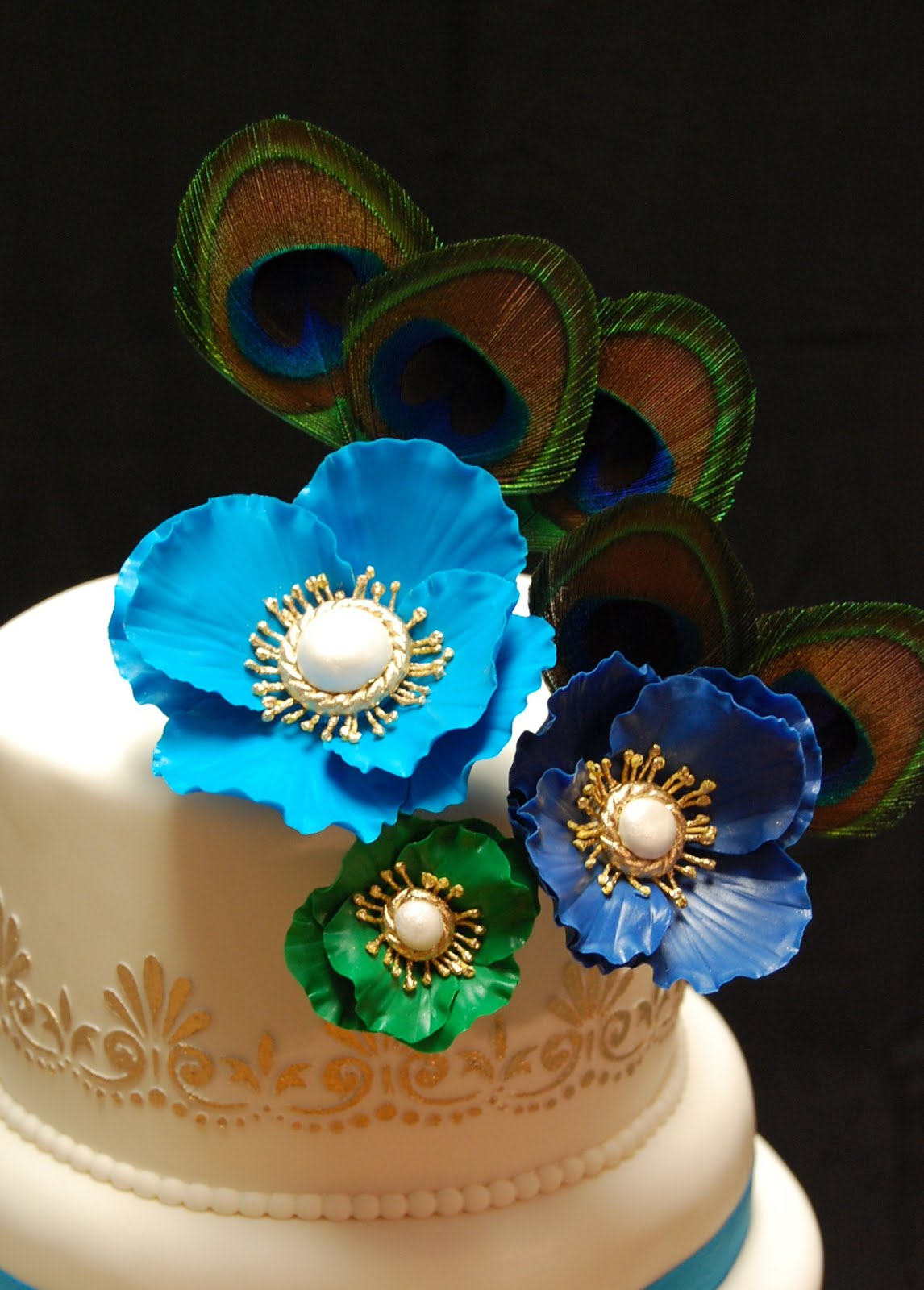 Pin Peacock Themed Desserts Picture Cake on Pinterest