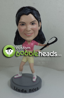 Birthday Female Tennis Custom Bobblehead