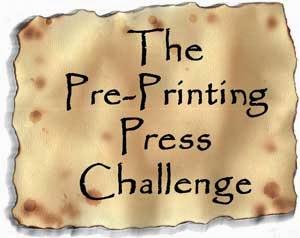 Pre-Printing Press Challenge