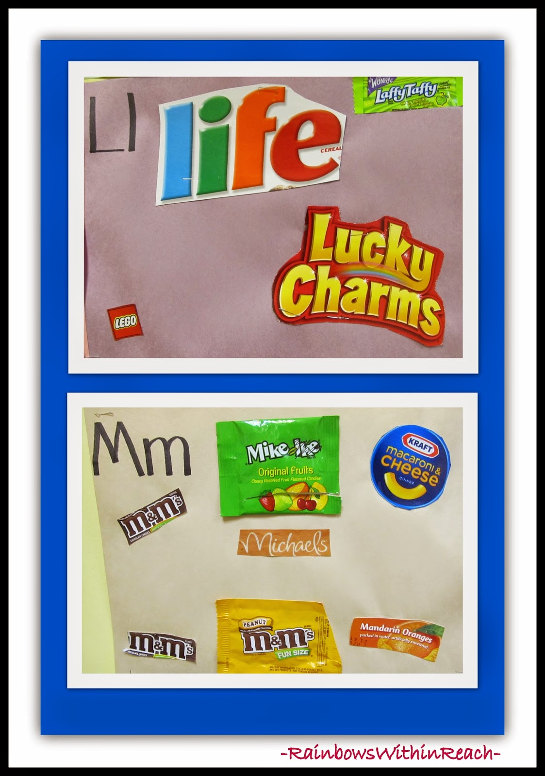 Environmental Print Example in Preschool: Word Wall RoundUP at RainbowsWithinReach