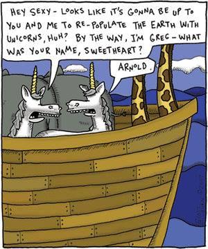 Noahs Arc, unicorn fail, end of unicorns