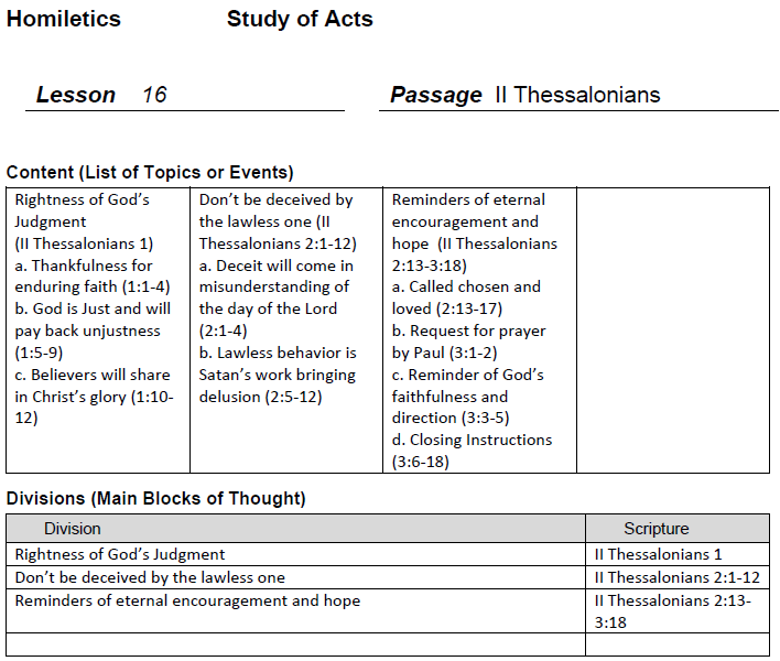 Worksheet Homiletics Worksheet homiletics 101 2 thessalonians 1 3 lesson 16 chucks study this week