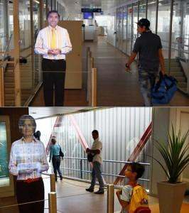 airport hologram