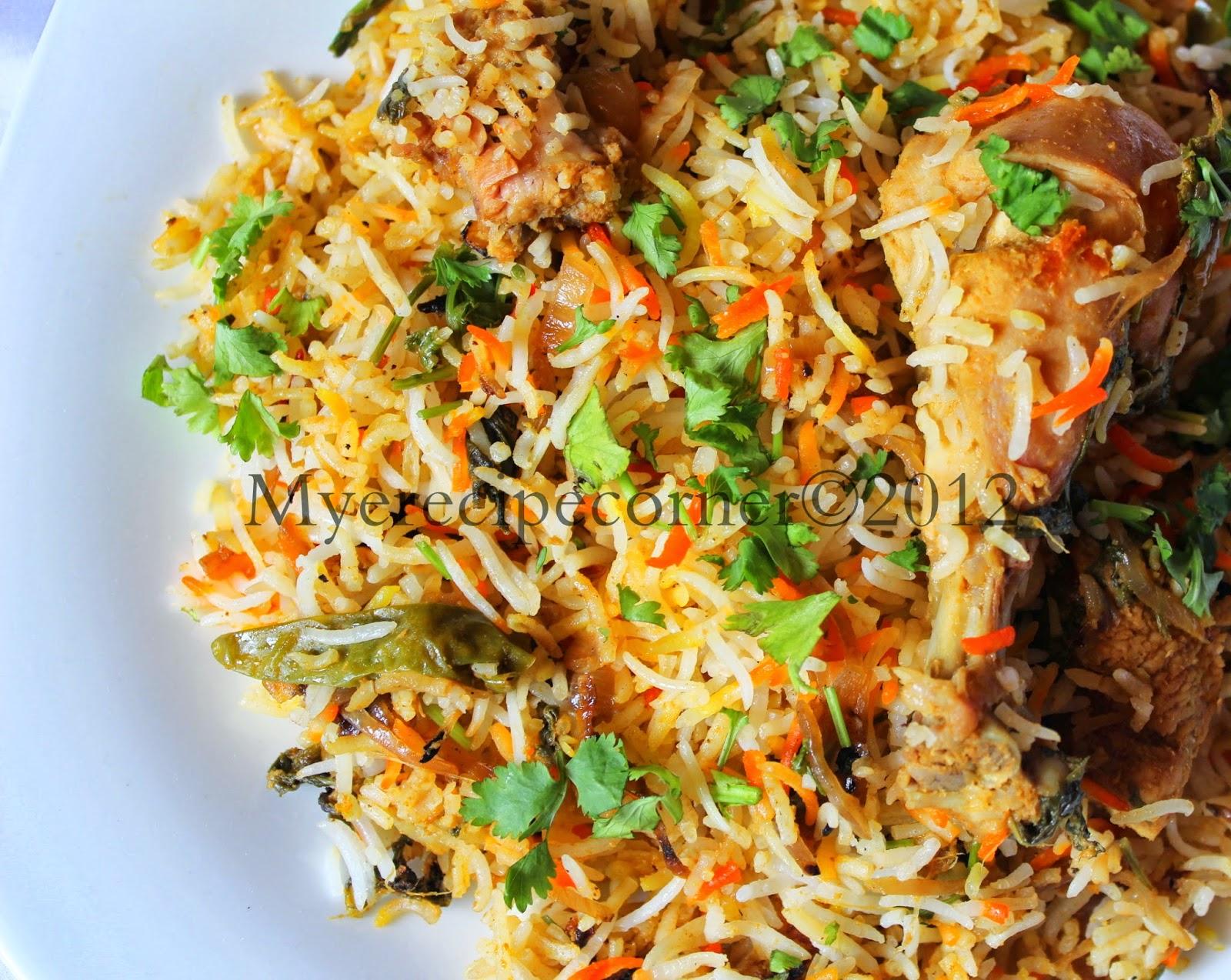 Mye's Kitche... Hyderabadi Chicken Biryani