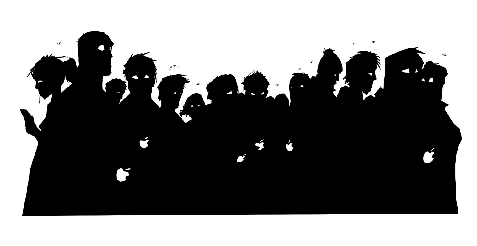 Whole Bunch Zombies Ipads Just   Zombie Hand Silhouette