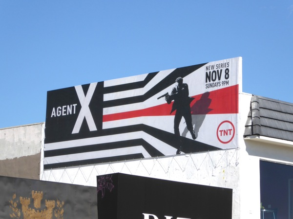 Agent X TV series billboard