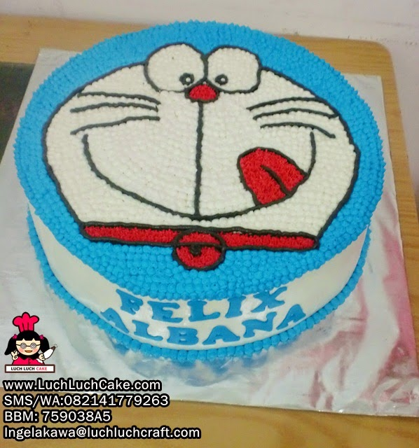 Kue Tart Kapala Doraemon Daerah Surabaya - Sidoarjo
