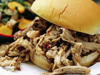Gilled Pulled Pork with Ranch Barbecue Sauce Recipe