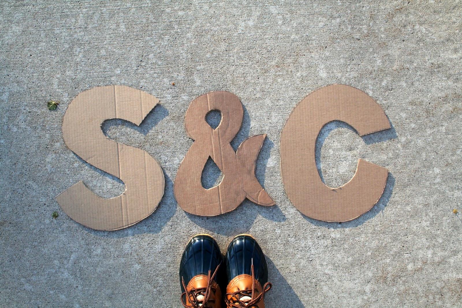 Lyrical bits diy coffee filter monogram letters for 3 foot cardboard letters