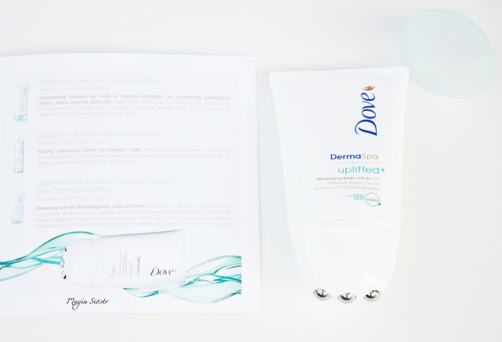 Roll-on do ciała, Dove DermaSpa Uplifted+, ujędrnienie skóry, antycellulit