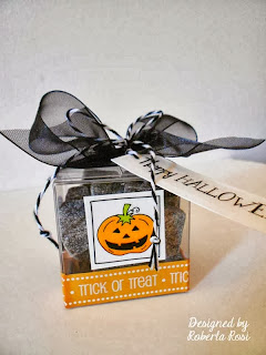 SRM Stickers Blog - Halloween Table Decor by Roberta - #halloween #boxes #clear #stickers #twine #borders