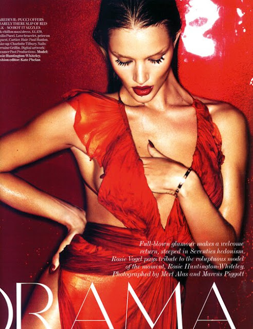 rosie huntington whiteley vogue. Ms. Huntington-Whiteley is