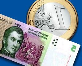 Equivalencia entre euro y pesos