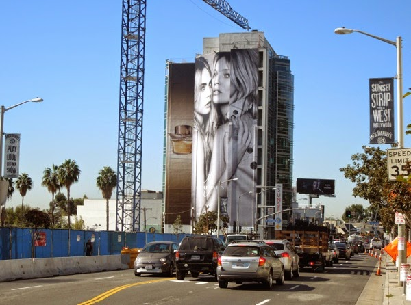 Giant My Burberry perfume billboard Sunset Strip