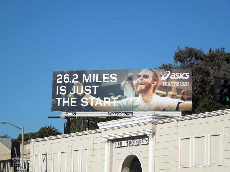 Asics marathon billboard