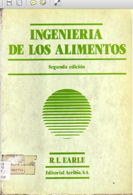 LIBROS DE INGENIERIA: INGENIERIA DE ALIMENTOS - EARLE - photo#20