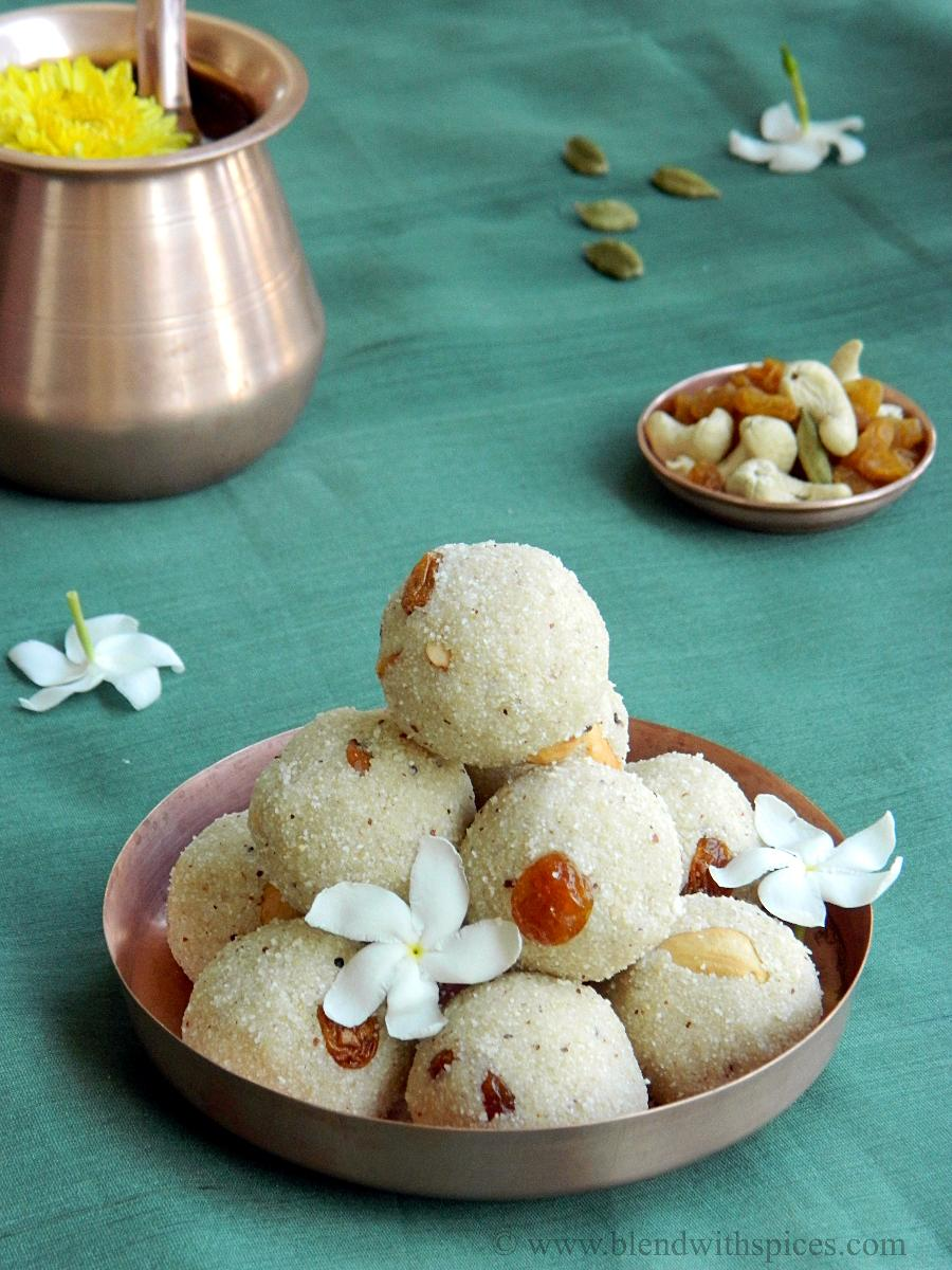 rava laddu recipe, how to make rava ladoo