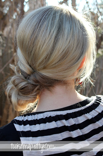 messy bun - twist prettytwist