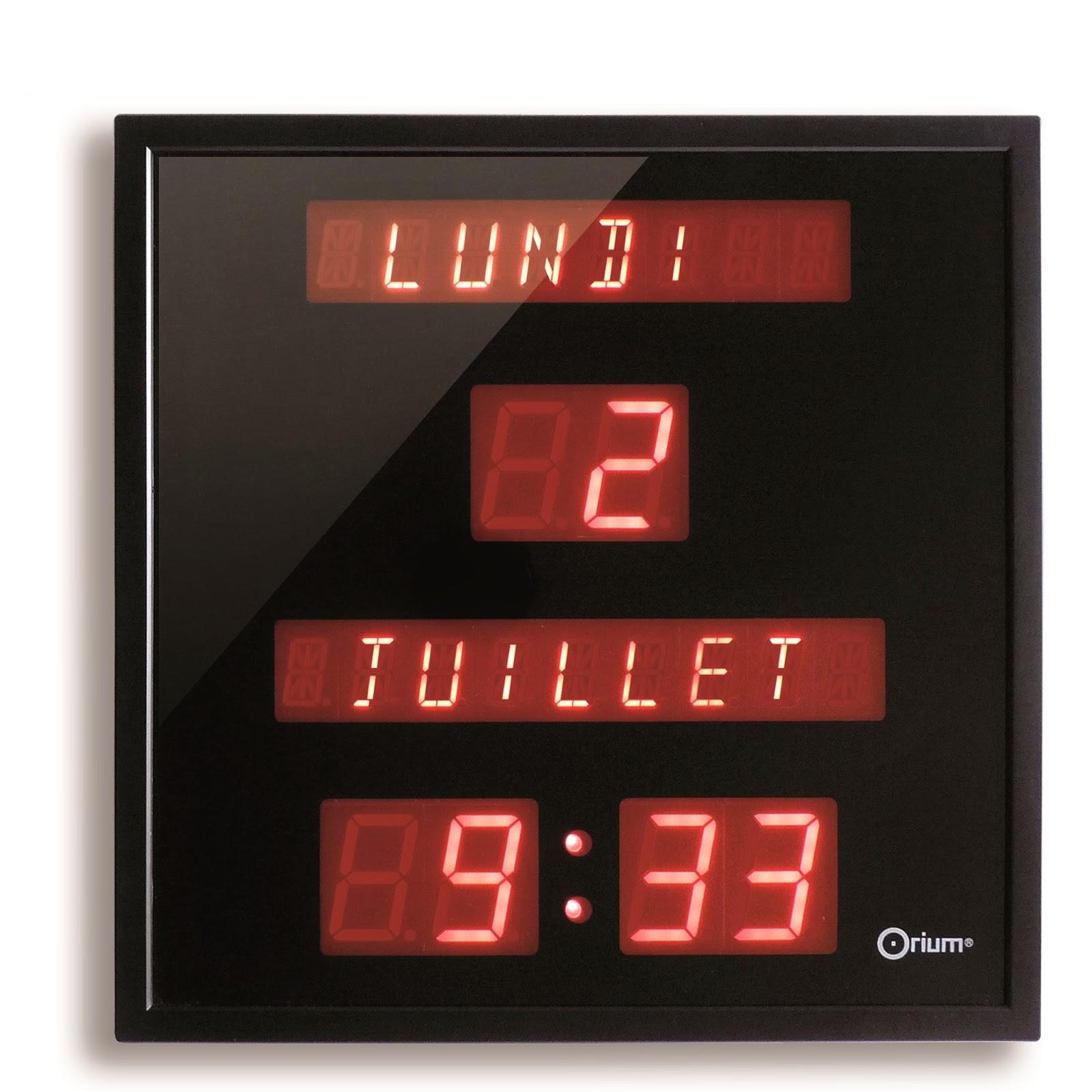 Horloge calendrier digitale Bien Vivre Senior