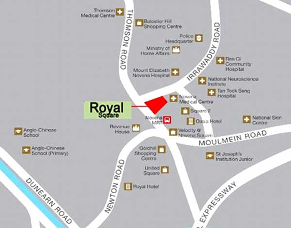Royal Square Location Map