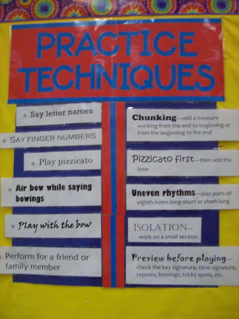 Practice tips for beginning orchestra students