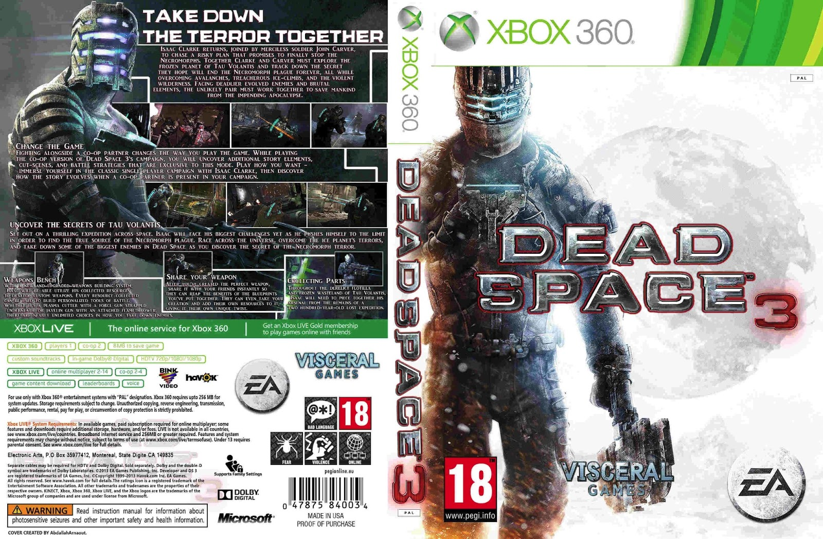 HARD GAMESS: DEAD SPACE 3 DEMO   XBOX 360