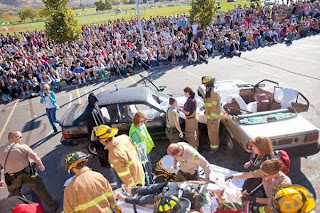 Car wreck, impaired driving, red ribbon week, red ribbon week 2013