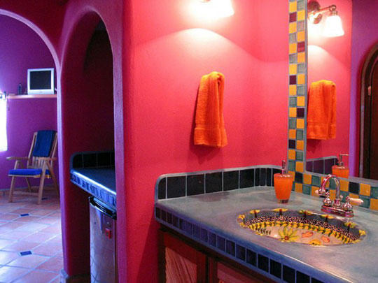 Decoracion Baños Colores:Mexican Bathroom Design