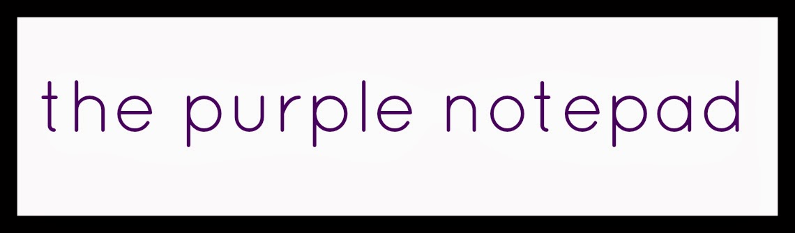 the purple notepad