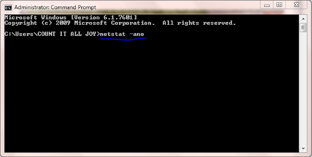 Type netstat -ano In CMD Prompt