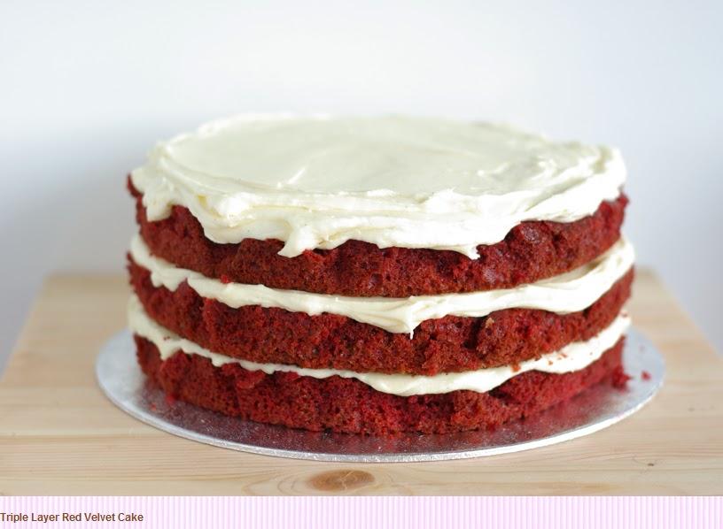BelfastBride: Red Velvet Wedding Cake