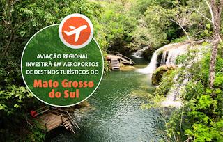 Aviação Regional investirá em aeroportos de destinos turísticos do Mato Grosso do Sul - Eliseu Padilha