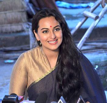 Sonakshi Sinha On The Sets Of TV Serial Uttaran