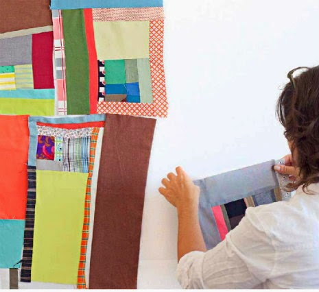 Lucky Spool's Essential Guide to Modern Quilt Making  denyse schmidt piece as you go