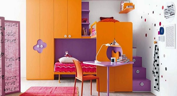 best children's wardrobes designs, colors, orange wardrobes for kids