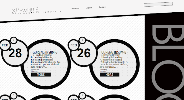 Grunge White Blogger Template