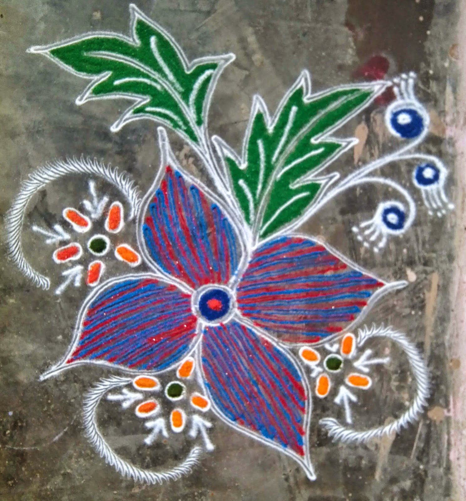 Kids Rangoli Designs 4