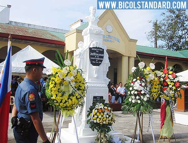 Wreath-Laying Ceremony at the statue of Jose Maria Panganiban in Naga Central School I