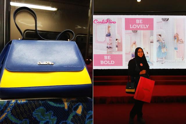carlo rino, wonderland, handbag, kasut