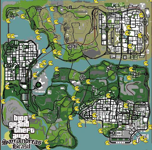 Gta Sa Mod S Brasil Mapa Das Ostras