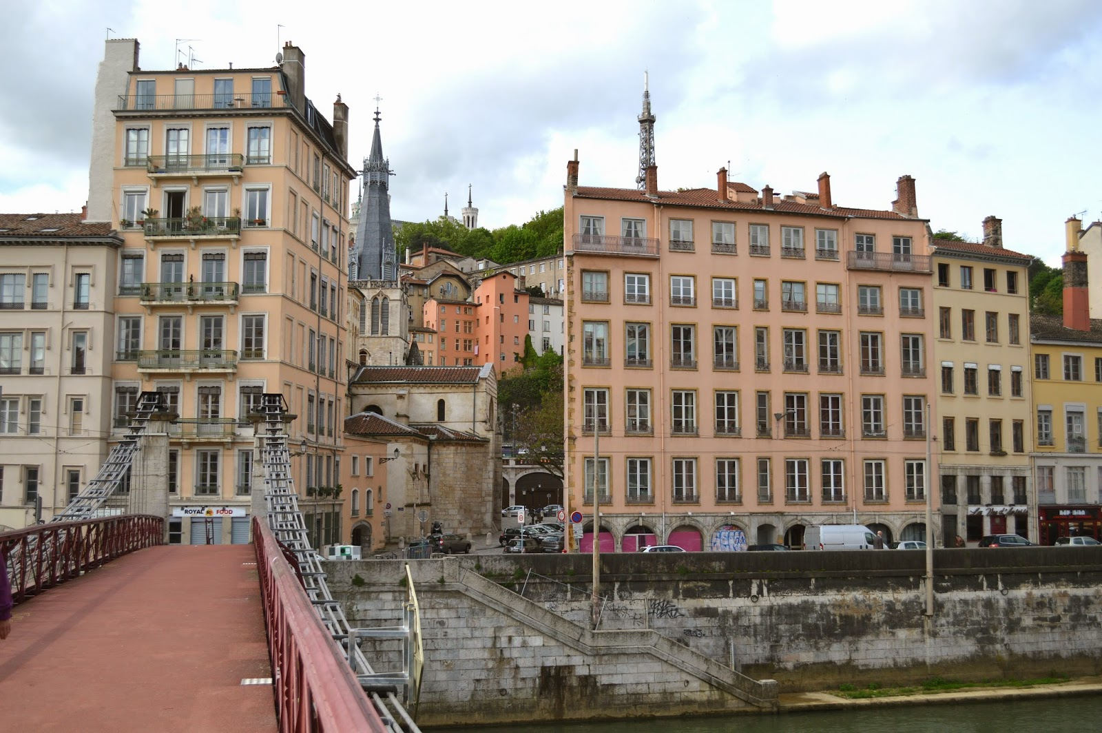 View from a bridge in Lyon