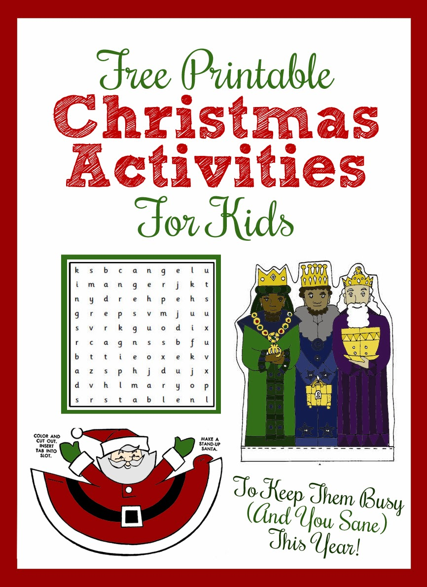 Printable Christmas Activities for Kids - thecraftpatchblog.com