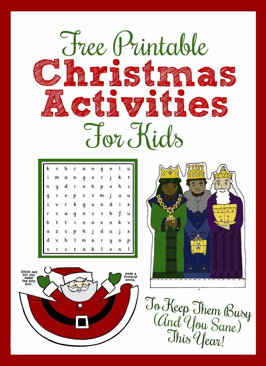 Printable Christmas Activities For Kids Thecraftpatchblog Com