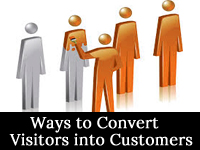 ways to convert visitors into customers